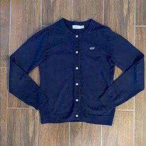 Vineyard Vines Navy Blue Cardigan Sweater Girls M